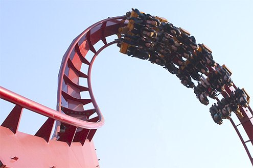 The new amusement ride 'The Devil' in Tivoli.