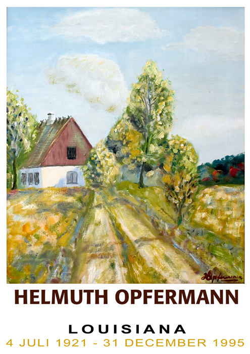 Prototype: Fake exhibition poster for paintings by Helmuth Opfermann.