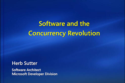The Software and the Concurrency Revolution presentation.