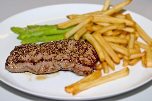 Beef and french frites.
